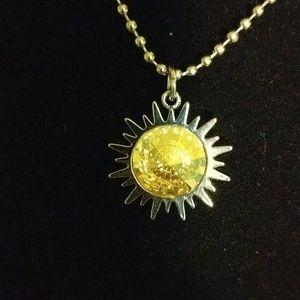 Swarovski Crystal Sun necklace 18 inch chain
